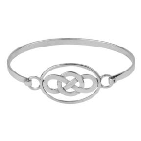 Celtic Oval Knot Silver Bangle 0426